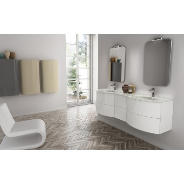 Modern Double Vanity Latitudine 04 by GB Group