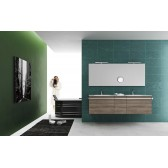 Modern Double Vanity Moon 10 by GB Group