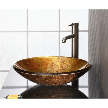 Reflex Metallic Gold Vessel Sink