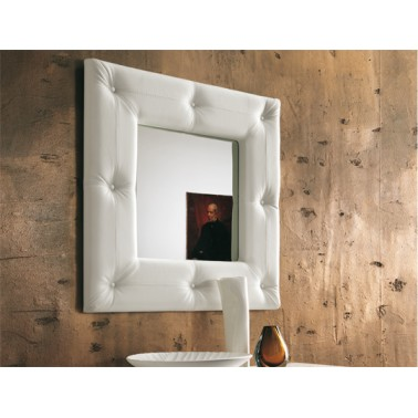 Italian Mirror in Leather Frame - Soft