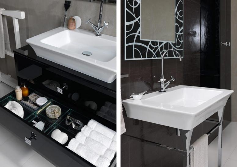 Regia vintage art deco bathroom vanity