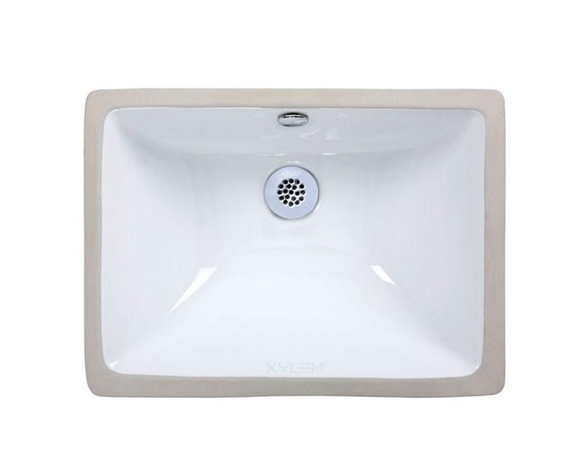 undermount ceramic bathroom sink