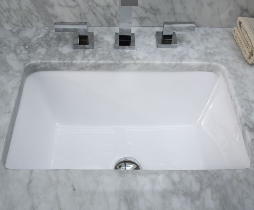 Home Sinks Rectangular Under Mount Ceramic Sink