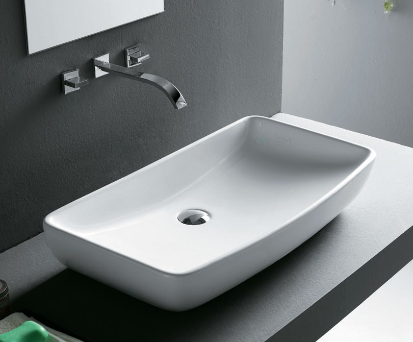 Home > Sinks > Rectangular Ceramic Vessel Sink - 27.5?