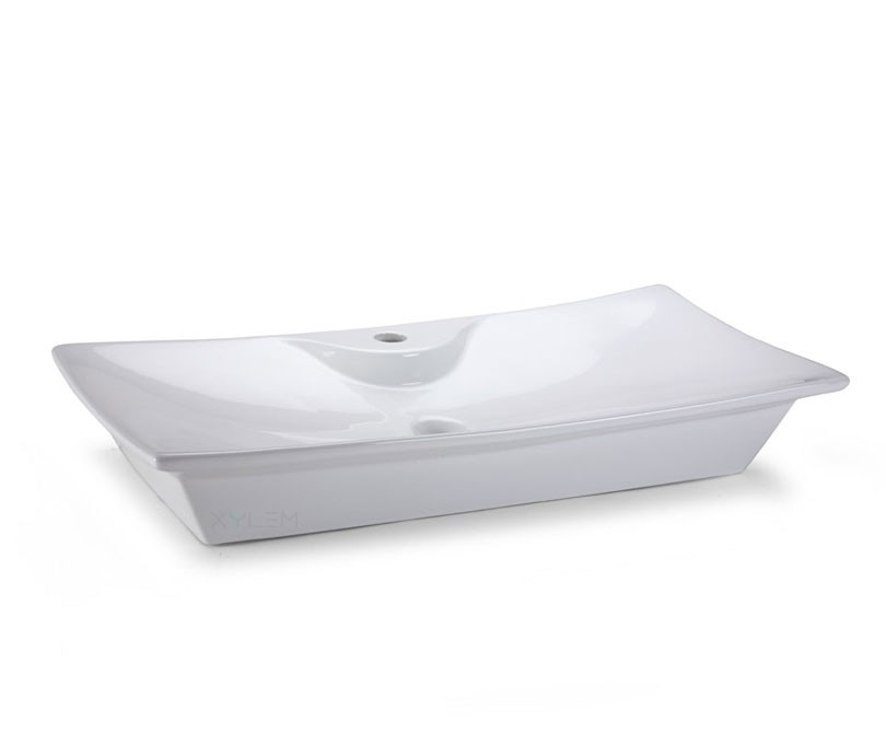 Home > Bath > Rectangular Ceramic Vessel Sink with Single Hole ...