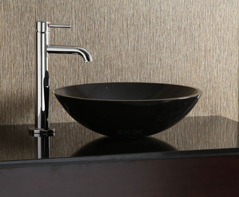 Round Granite Sink : Home > Bath > Black Granite Round Stone Vessel Sink