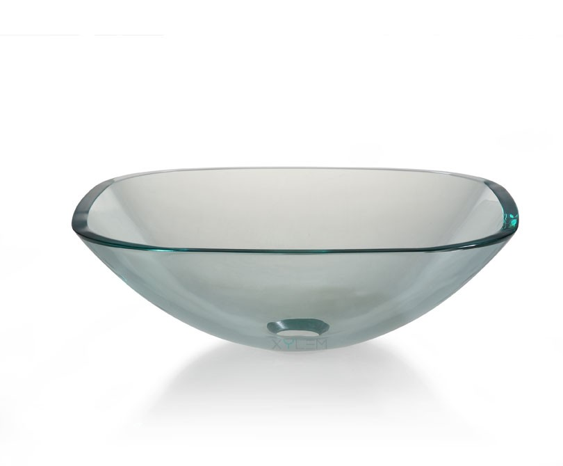 Sink Glass : square glass vessel sink $ 295 00 clear transparent square glass ...