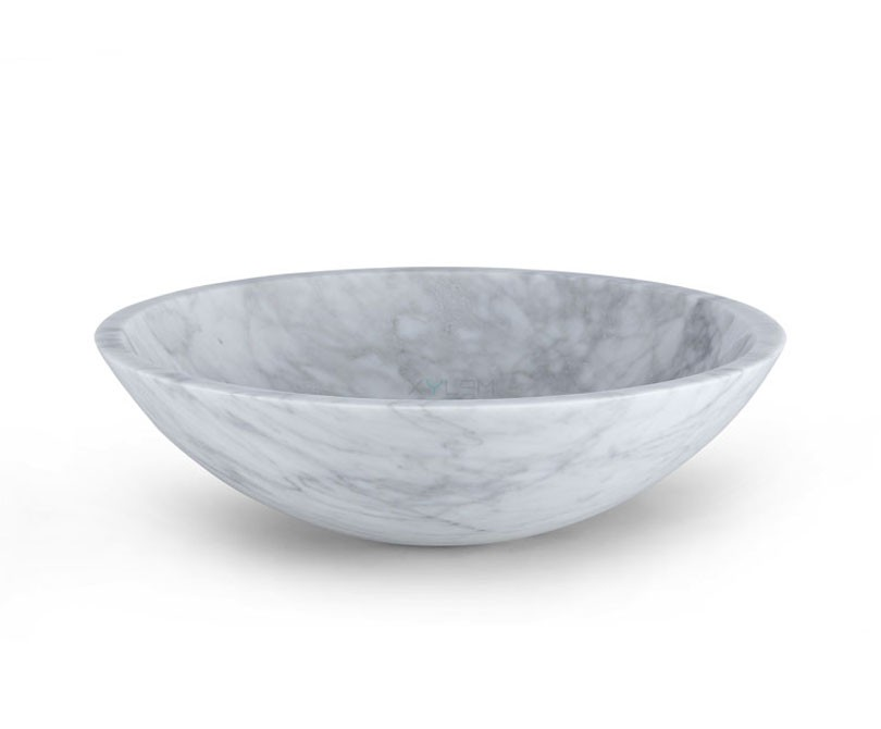 White Stone Sink : Home > Bath > White Carrara Marble Round Vessel Sink