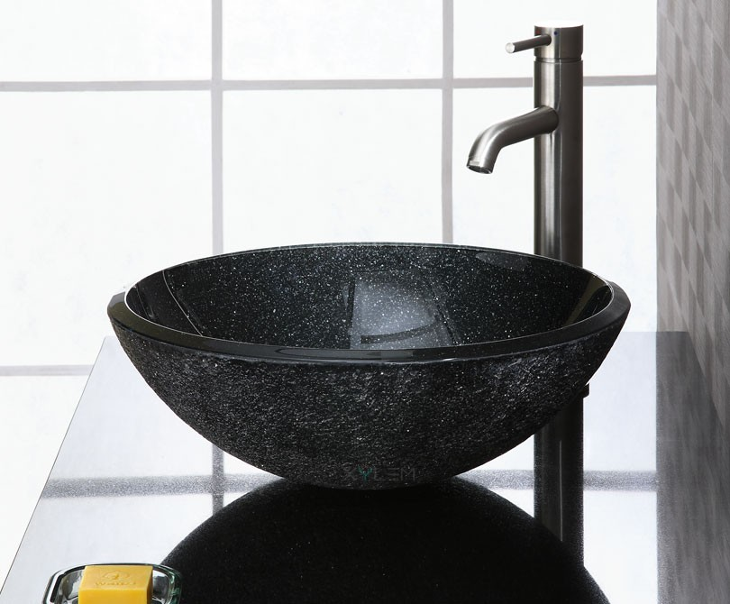 Black Granite Vessel Sink : Home > Sinks > Black Stone Vessel Sink