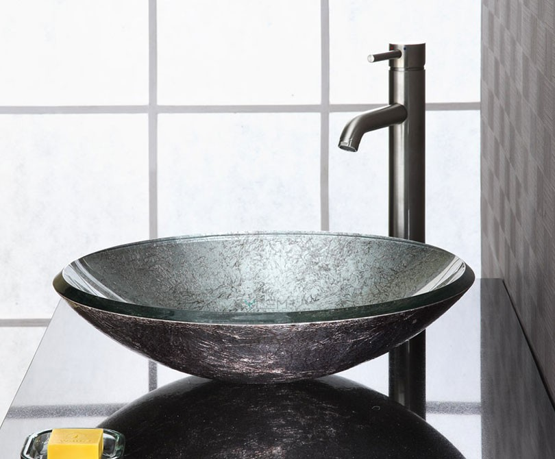 Vessel Sinks : Home > Sinks > Reflex Metallic Silver Vessel Sink